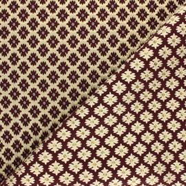Lurex Jacquard fabric - Burgundy Versailles x 10cm