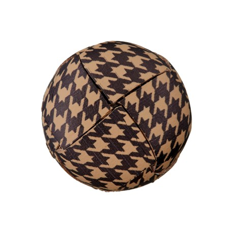 Recycled Leather Button - Damier Houndstooth
