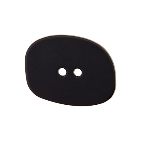 Bouton Polyester Galet - Noir