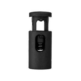 Arrêt Cordon Polyester Recyclé 18 mm - Noir