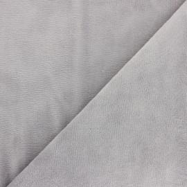 Tissu Micro-éponge Bambou - gris souris x 10cm