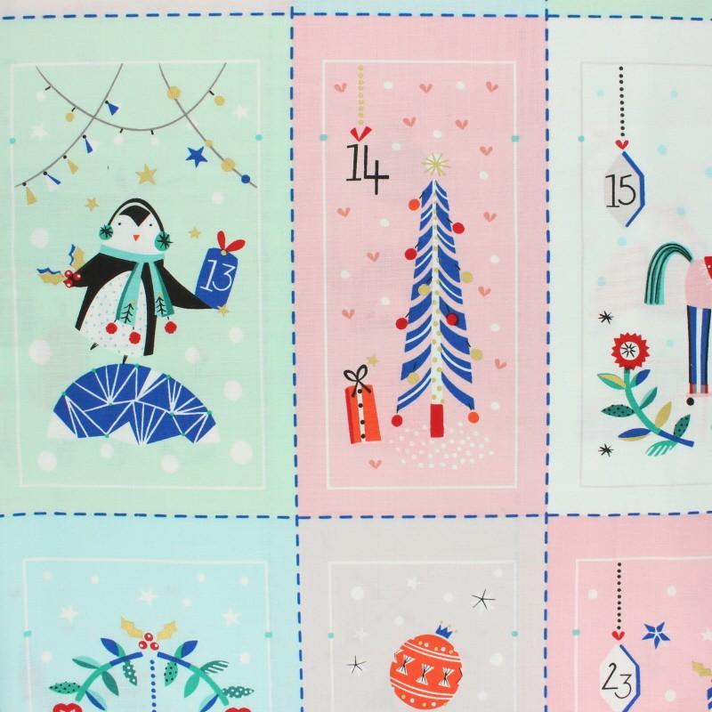 Calendrier De Lavent Cm.Tissu Coton Dashwood Calendrier De L Avent Merry And Bright Mpm