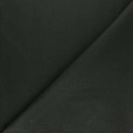 Waxed Cotton Fabric - Dark green Hunter x 10cm