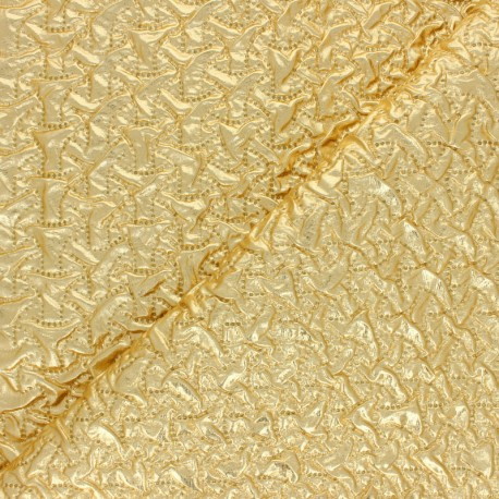 Nylon quilted lining fabric - silver Cubix x 10cm