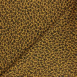 Tissu coton cretonne Fauve - ocre x 10cm
