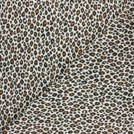 Tissu coton cretonne Fauve - écru x 10cm