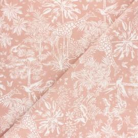 Tissu coton cretonne Toile de safari - blush x 10cm