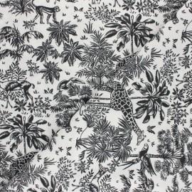Tissu coton cretonne Toile de safari - noir x 10cm