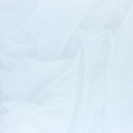 Tissu tulle souple Point d'esprit Diamond - écru x 10cm