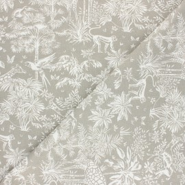 Tissu coton cretonne Toile de safari - lin x 10cm