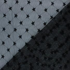 Tissu tulle souple Point d'esprit Diamond - noir x 10cm