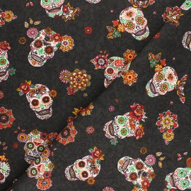 Twill Cotton Fabric Cristobal - black x 10cm