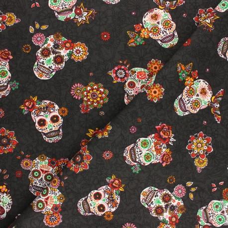 Tissu coton sergé Cristobal - noir x 10cm