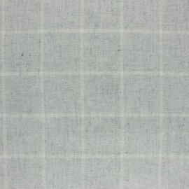 Checked wool Fabric - mottled grey Tirana x 10cm