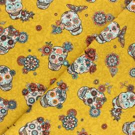 Tissu coton sergé Cristobal - curry x 10cm