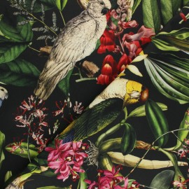 Tissu coton sergé Nicaragua - noir x 10cm