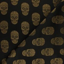 Tissu Jacquard Skull - doré * 10 cm