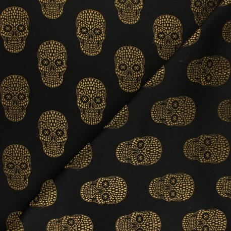 Jacquard fabric - Gold Skull x 10cm