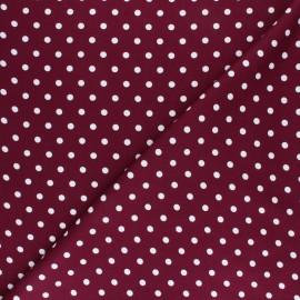 Tissu twill viscose Perla - bordeaux x 10 cm