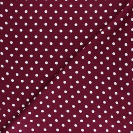 Twill viscose fabric - burgundy Perla x 10 cm