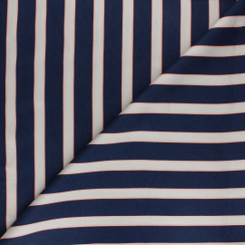 Matte viscose satin fabric - navy blue Felindra x 50cm