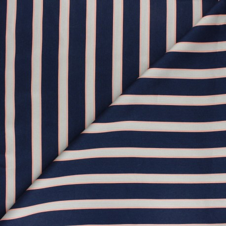 Matte viscose satin fabric - navy blue Felindra x 50cm