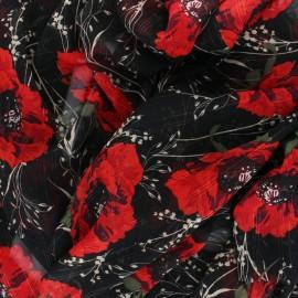 Tissu Mousseline lurex Poppy - Rouge x 50cm