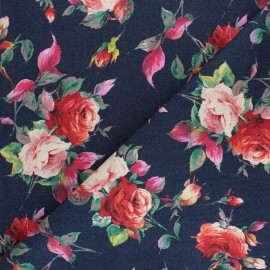 Elastane jeans fabric Rosa - brut x 10cm