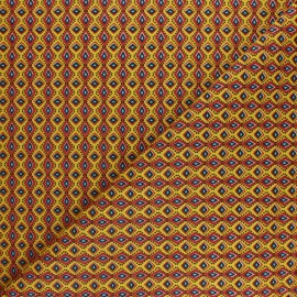 Cretonne cotton fabric - yellow wax x 10cm