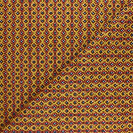 Cretonne cotton fabric - yellow wax x 10cm