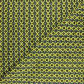 Cretonne cotton fabric - lemon yellow wax x 10cm