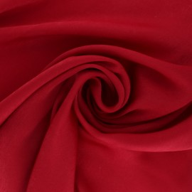 Textured satin fabric - Red passion x 10cm