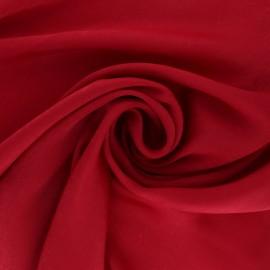 Tissu satin effet moiré - rouge passion x 10cm
