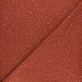 Tissu jersey Poppy Glitter Dots - rouille x 10cm