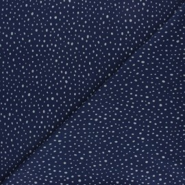 Tissu jersey Poppy Glitter Dots - bleu marine x 10cm