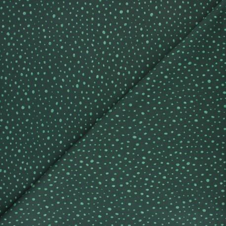 Tissu jersey Poppy Glitter Dots - vert x 10cm