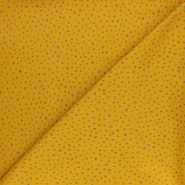 Poppy Jersey fabric - Mustard Glitter Dots x 10cm