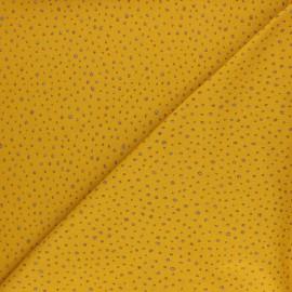 Tissu jersey Poppy Glitter Dots - moutarde x 10cm
