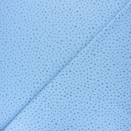 Poppy Jersey fabric - Sky blue Glitter Dots x 10cm