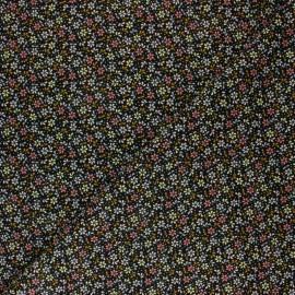 Tissu velours milleraies Poppy Flower Fun - bleu nuit x 10cm