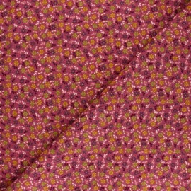 Poppy Milleraies velvet fabric - purple Flower Fun x 10cm