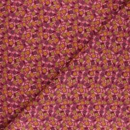 Tissu velours milleraies Poppy Flower Fun - violine x 10cm