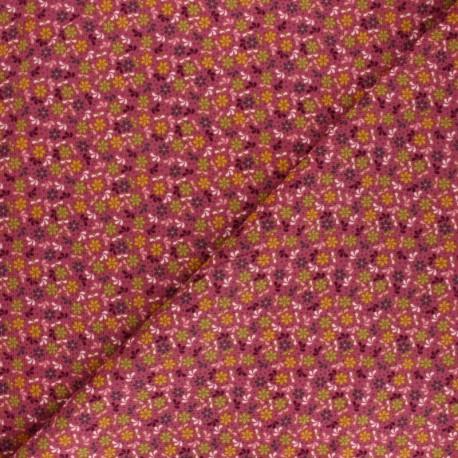 Poppy Milleraies velvet fabric - purple Flower Fun x 10cm