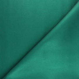 Imitation leather fabric - Intense green Louxor x 10cm