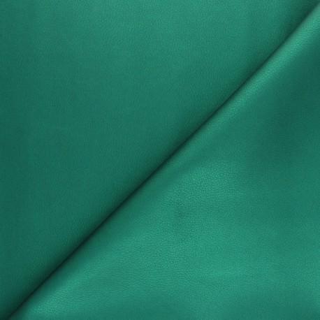 Imitation leather fabric - Pine green Louxor x 10cm