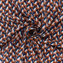 Graphic Viscose Fabric - Cinnamon Aria x 10cm