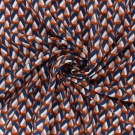 Tissu Viscose graphique Aria - Cannelle x 10cm