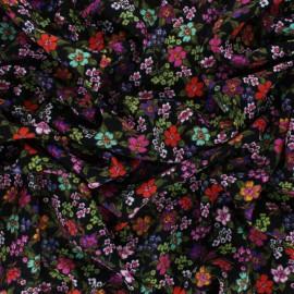 Viscose Fabric - Pink Prairie de fleurs x 10cm