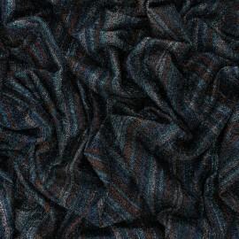 Tissu Maille Lurex rayé Théa - Bleu x 10cm