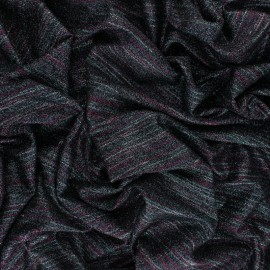 ♥ Coupon 200 cm X 150 cm ♥ knitted Fabric Thea - pink